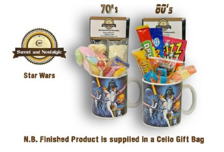 Star Wars - Mug with/without a intergalactic selection of 70's or 80's retro sweets